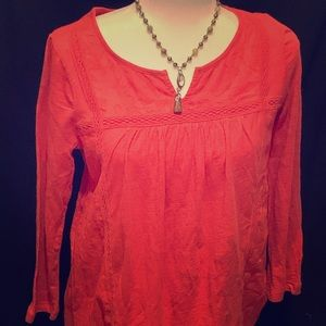 Lucky brand 100% cotton orange shirt..